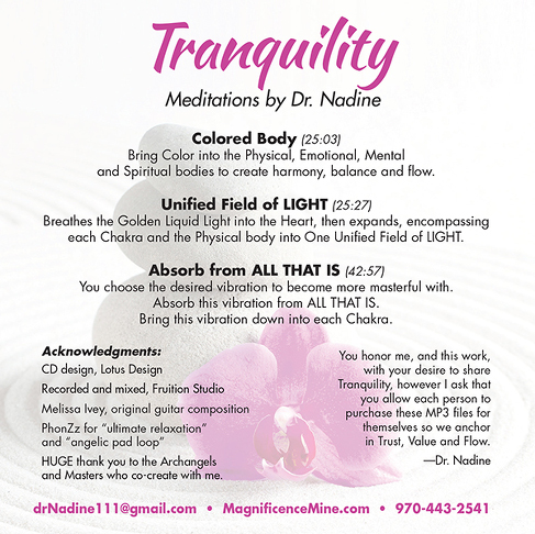 TRANQUILITY Meditations (93 min. MP3)