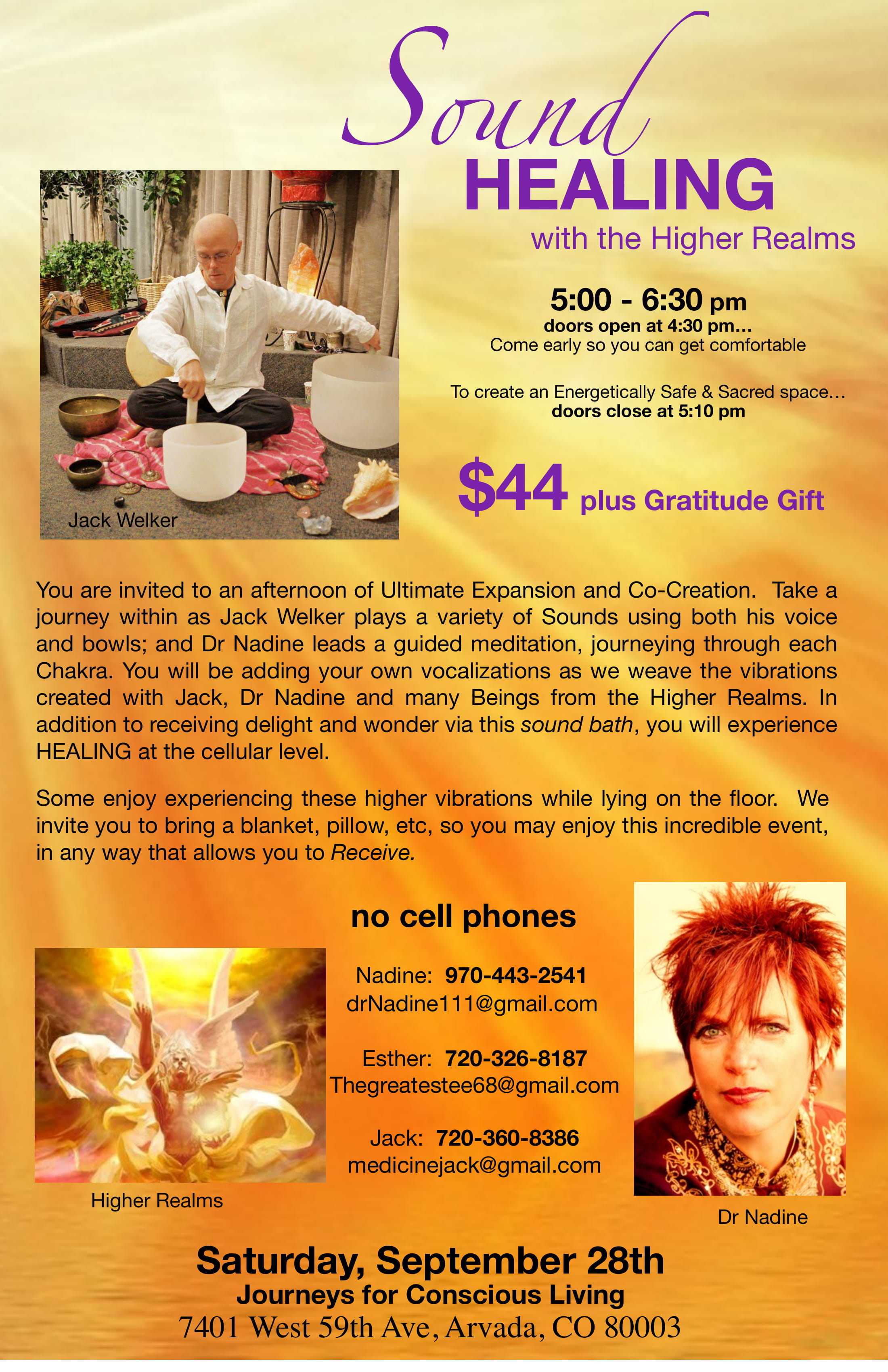 SOUND HEALING with the Higher Realms